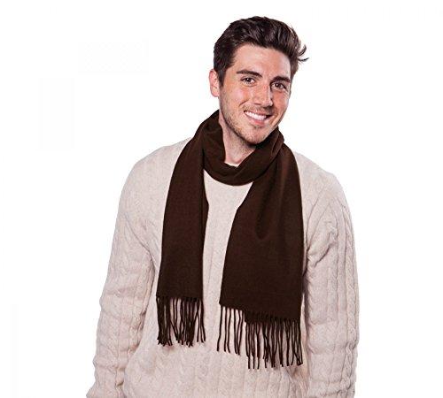 Espresso Wool Cashmere - Alashan Cashmere Accessories 95% Merino Wool 5% Cashmere Woven Scarf - Espresso/U100CW-120