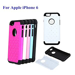 2015 New 5 Colors For iphone 6 Fashion Mobile Phone Case Detachable Dual Layer Bling Crystal Decoration Cellphone Case --- Color:White