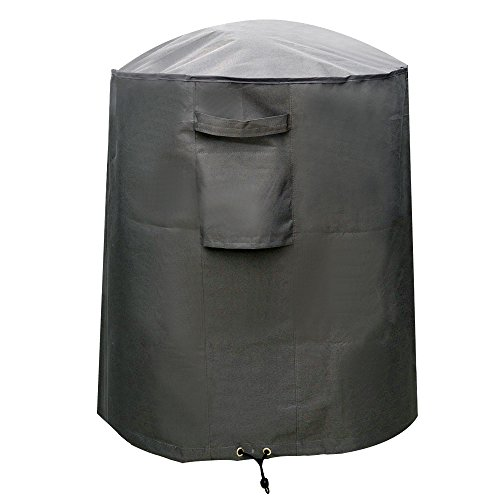 M&H Kettle Grill Cover, Heavy Duty Waterproof BBQ Smoker Grill Cover, 29 inch Small, Premium Outdoor Round Grill Cover with Hem Cord and Air Vent, Durable and Water Resistant Fabric, Taupe