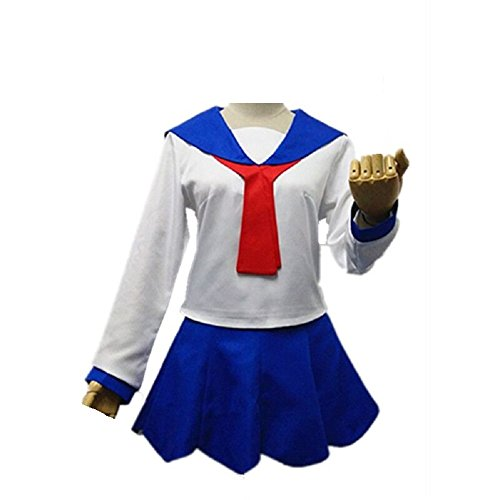 POP Team Epic POP and PIPI Uniform Full Set Sailor Dress Outfit Cosplay Costume Female L]()