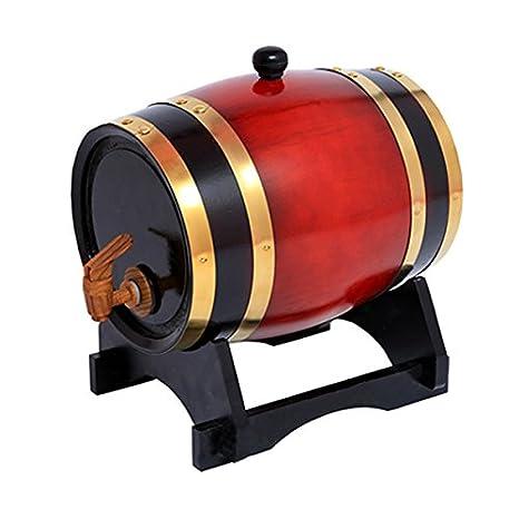 Barril de madera de roble de 10 litros para almacenamiento y envejecimiento de vino y bebidas, con soporte, de la marca Dream Wood: Amazon.es: Hogar