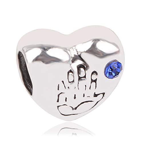 Women Silver Color Apple Mom Palm Lion Pendant DIY Bead Charms For Pandora Bracelets & Bangles Necklace Jewelry AA0863