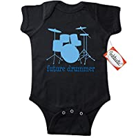 Inktastic Baby Boys' Future Drummer Music Infant Creeper 6 Months Black