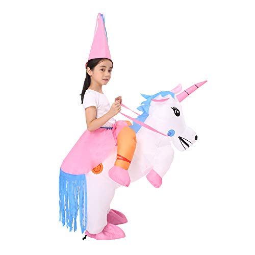 Decalare Inflatable Unicorn/Dinosaur T-REX Costume,Halloween Party Blow up Costumes for Adult/Kids ()