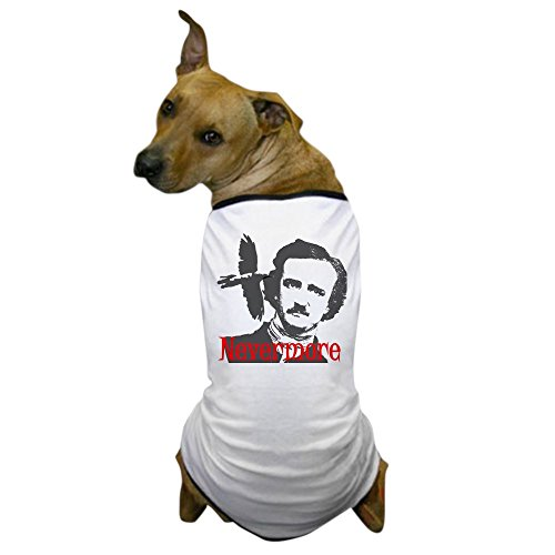 CafePress - NEVERMORE Edgar Allan Poe Dog T-Shirt - Dog T-Shirt, Pet Clothing, Funny Dog Costume ()