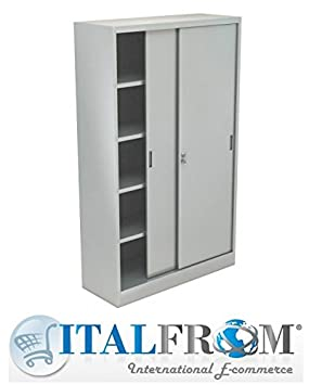 ITALFROM Armario de Metal para Oficina Archivo Armarios metálicos Armario metálico 180 x 45 x 250 5/10 ripiani-consegna 30 días: Amazon.es: Hogar