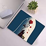 DISNEY COLLECTION Mouse Pad Rectangle Mouse Pad Belle Disney Love Princess Rose Beauty and The Beast Lightweight