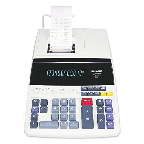 - Sharp EL1197PIII Two-Color Printing Desktop Calculator Black/Red Print 4.5 Lines/Sec