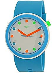 Swatch Mens Originals PNW102 Blue Silicone Quartz Watch