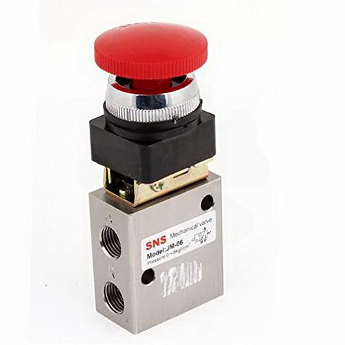 Bearing Pulley Alloy 2Position 3 Way Slef Locking Air Pneumatic Mechanical Valve G1/4'' By Fuxell