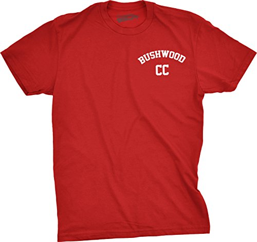 Mens Bushwood Country Club Shirt Golfing T shirts Funny Tees Golf Gifts for Dad (Red) L