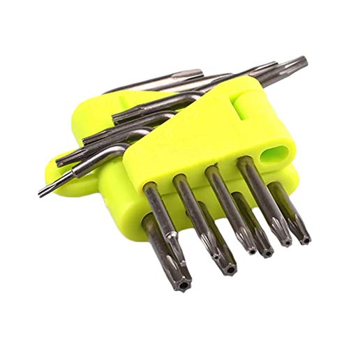 Hexagonal Torx Wrench Set L - Type Screwdriver Hex Key Allen Wrench Set SAE Metric Star Long Arm Ball End Set Tools Industrial Grade Bonus Free Strength Helping T-Handle