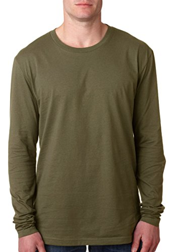 Mens Premium Fitted Long-Sleeve Crew
