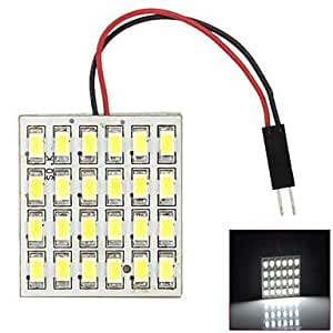 GDW HD3028 T10 / BA9S / Festoon 12W 500lm 24-SMD 5630 LED de luz blanca de la azotea del coche / luz de lectura - (DC 12V)