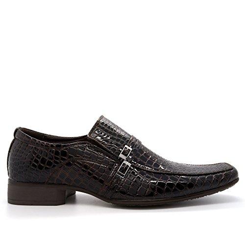 Chaussures crocodile sans formelles homme marron Klass lacets London en Footwear pour awqEpp