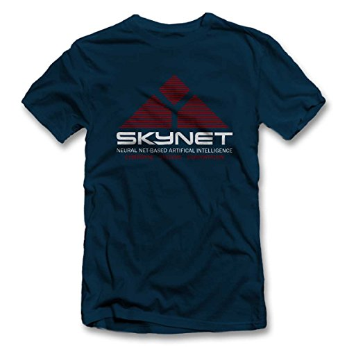 T S xxl Blu Skynet Corporation Shirtground Oltremare Cyberdyne Colori shirt colours Systems 12 wIPHxY