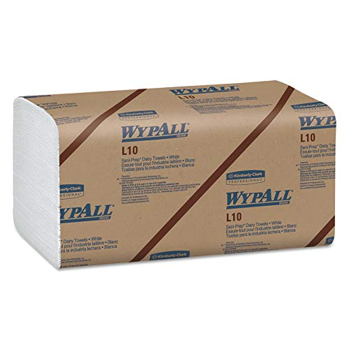 WypAll 01770 L10 SANI-PREP Dairy Towels, Banded, 1-Ply, 10 1/2 x 9 3/10, 200 per Pack (Case of 12 Packs) by Wypall