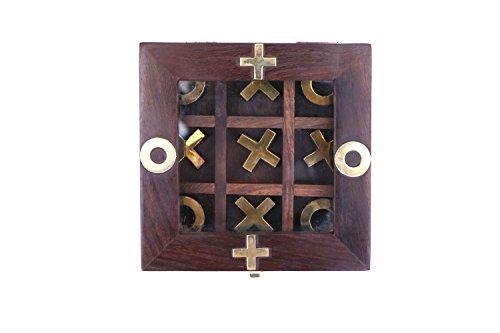 wooden Tic Tac Toe ( Tick tack toe ) - Wooden Tic Tac Toe Family Board Game (Hug And Kisses Tic Tac Toe)