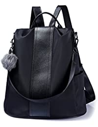5fb7fa27599e Women Backpack Purse Waterproof Nylon Anti-theft Rucksack Lightweight  School Shoulder Bag