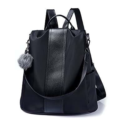 351078eed4 Amazon.com  Women Backpack Purse Waterproof Nylon Anti-theft ...