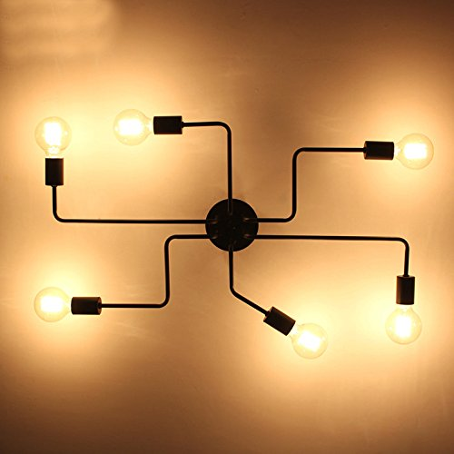 LightInTheBox Wrought Iron 6 Heads Multiple Rod Ceiling Dome L& Creative Personality Retro Flush Mount Ceiling Lighting Fixture for Living Room Dining ... & LightInTheBox Wrought Iron 6 Heads Multiple Rod Ceiling Dome Lamp ... azcodes.com