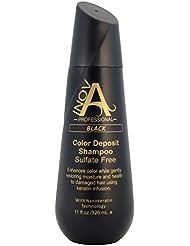Inova Professional Color Revive & Enhance - Smooth Protection Sulfate-Free Shampoo - Color Deposit Black, 11 Fluid Ounce