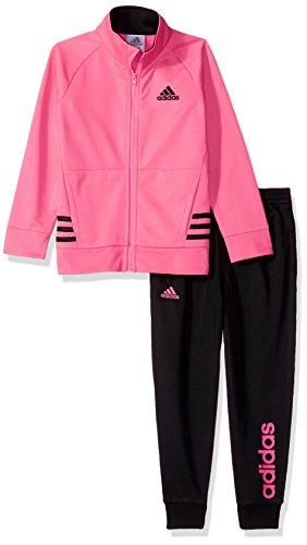 Adidas Tricot Zip Jacket (adidas Little Girls' Tricot Jacket Set, Bright Pink, 5)