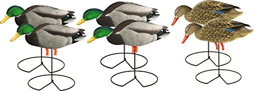 Avery Hunting Gear PG Mallard FB-Feeder W-Flocked Drake Heads (1/2 Dozen)