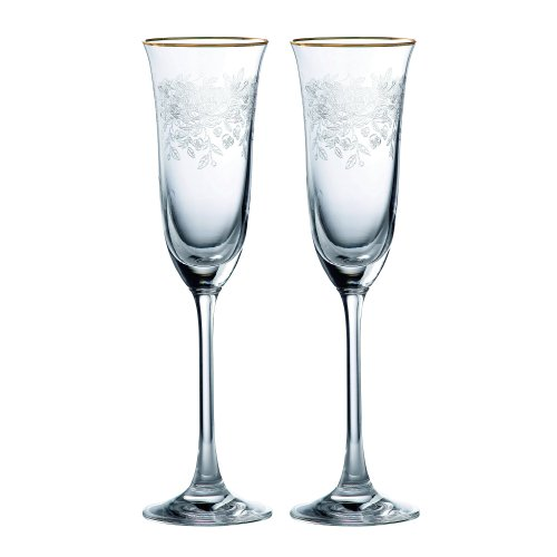 Royal Albert Old Country Roses Set of 2 Champagne Flutes