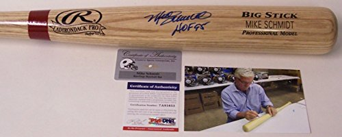 Mike Schmidt Philadelphia Phillies Autographed Hand Signed Adirondack Pro Wood Baseball Bat - with HOF 1995 Inscription - (Philadelphia Phillies Hand Signed)