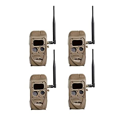 Cuddeback 4 Black Flash CuddeLink 20MP Wireless Game Trail Camera (11445-BLACKFLASH-4PK)