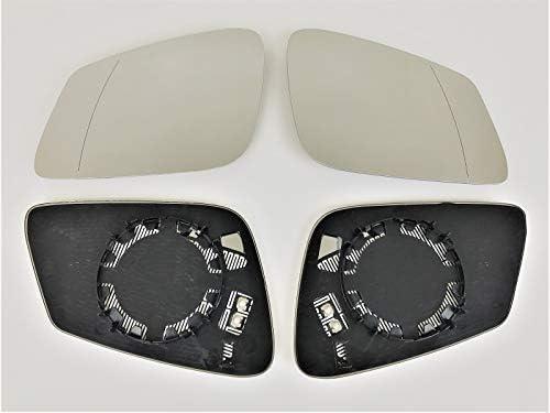 Spiegel Spiegelglas Links Rechts 2er Set Pro Carpentis Kompatibel Mit F07 F10 F11 Beheizt Ersatzglas Für Elektrische Aussenspiegel Achtung Nicht Automatisch Abblendbar Nicht Elektrochrom Auto