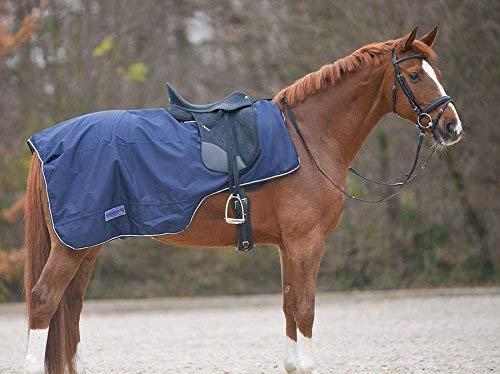 100247-60with Saddle Crew Neck Waterproof Dark Blue Size: Pony/Horse Blanket Reitsport Amesbichler