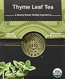 Organic Thyme Leaf Tea - Kosher, Caffeine Free, GMO-Free - 18 Bleach...