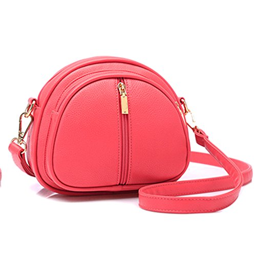GSPStyle Damen Schultertasche Kleine Handtasche Reißverschluss Cross Body Umhängetaschen Farbe Rot