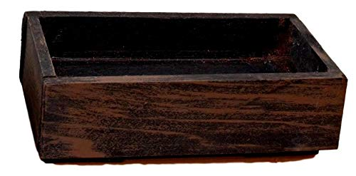 FATPLANTS American RED Cedar Wooden Planter Tray (8X4X2.5, Wicker - Box Cedar Planter Red