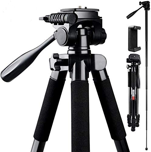 Amazon Com Camera Tripod Fositan 72 Inch Compact Travel Tripod With Quick Release Plate And Phone Holder For Camera Dslr Canon Nikon Sony Smartphone Video Tripod With 360 Panorama For Video Shoting Still Lifes