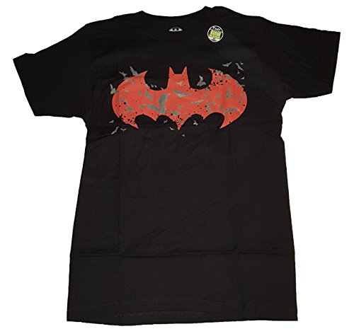 Dc Batman mens glow in the dark logo graphic t-shirt, up to size 3xl