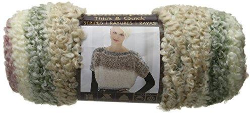 Homespun Acrylic Yarn - Lion Brand Yarn 792-213 Homespun Thick and Quick Yarn, Antique Stripes