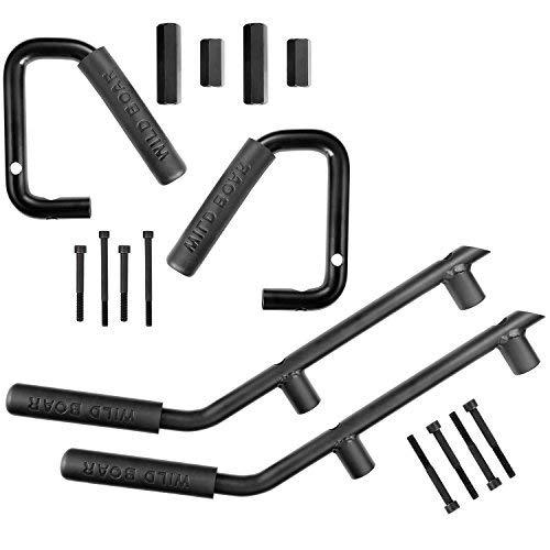 Front /& Rear Grabars Grab Handle Kit for 2007-2018 Jeep Wrangler JK Black