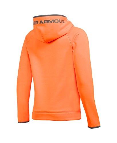 Under Armour Boys' Storm Armour Fleece Highlight Big Logo Hoodie, Blaze Orange (826)/Graphite, Youth Small by Under Armour (Image #1)