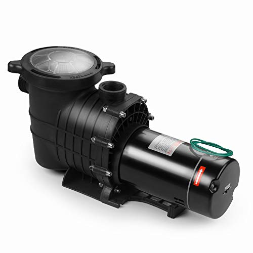 SUNCOO 2HP Dual Volt Inground Above Ground Pool Pump 110-120V/220-240V UL Certificated Swimming Spa Pool Pumps with Strainer Cord High Performance Motor 2-Speed for Water Clean Filter