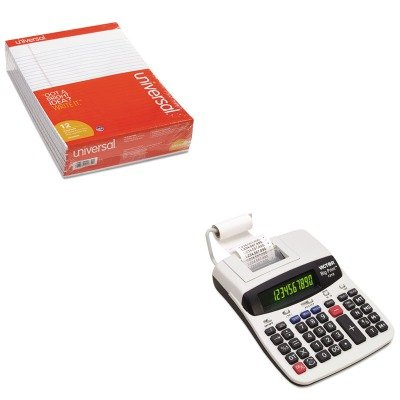 KITUNV20630VCT1310 - Value Kit - Victor 1310 Big Print Commercial Thermal Printing Calculator (VCT1310) and Universal Perforated Edge Writing Pad (UNV20630) by Victor