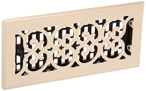 New Imperial Bronze Finish - Decor Grates FS410-AL Scroll Metal Floor Register, Almond, 4-Inch by 10-Inch