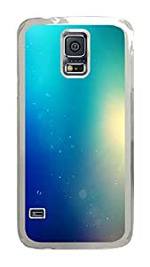 VUTTOO Rugged Samsung Galaxy S5 Case, Soft Turqoise Bokeh Light PC Plastic Hard Case Cover for Samsung Galaxy S5 I9600 PC Transparent