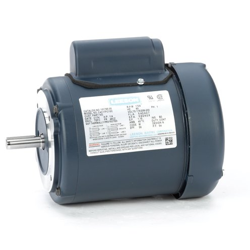 Leeson Electric 101765.00 - General Purpose Motor - 1 ph, 1/4 hp, 1800 rpm, 115/208-230 V, 48CZ Frame, Totally Enclosed Fan Cooled Enclosure, 60 Hz, Round ()