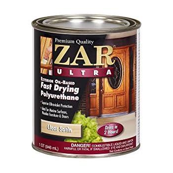 Zar 33912 antique flat ultra fast drying polyurethane - Exterior polyurethane wood finish ...