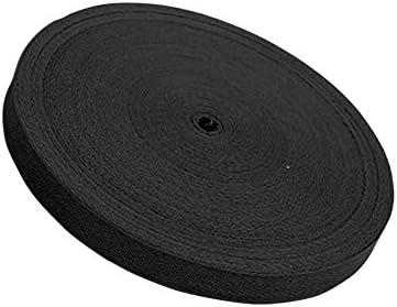 ウェビングストラップDIYクラフト耐久性のある縫製ベルトアクセサリーソフトコットンブレンド織りリボン家庭用服ヘリンボーンバッグ耐摩耗性(黒)