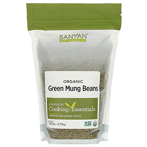 Green Beans Mung - Banyan Botanicals Green Mung Beans - USDA Organic - Non GMO - For Soups, Sprouts, & Easy Digestion 1.65 lb