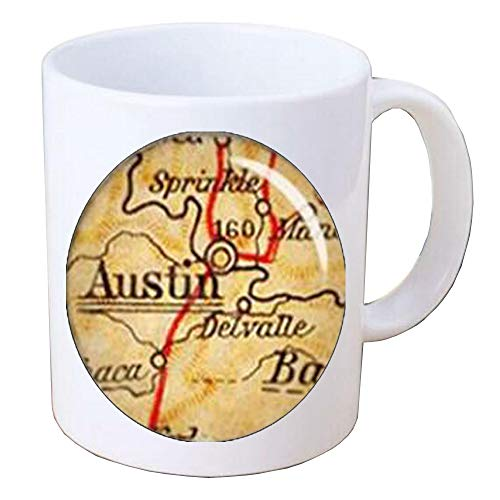 Austin Mug,Austin Texas,Austin TX,Map Coffee Mug,Austin Map,Austin Coffee Mug,Texas Coffee Mug,Texas Map,BV084